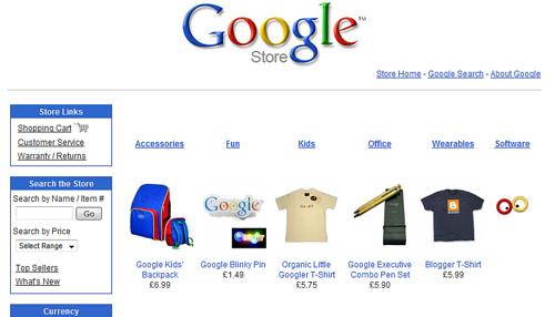 Google Storeを覗いてみた