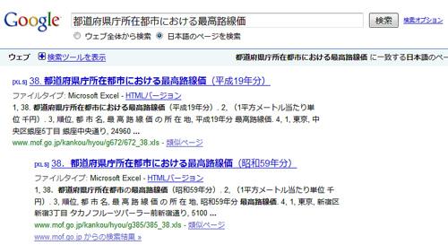 路線価検索に「都道府県庁所在都市における最高路線価検索」を付けてみました