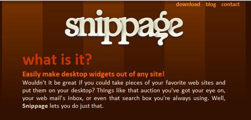 使い方が広がりそうなSnippageがおもしろそう