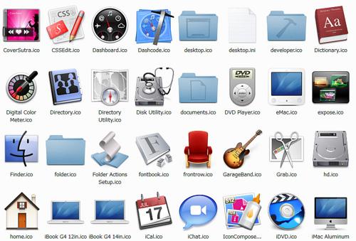 Mac風アイコンがダウンロードできるサイト