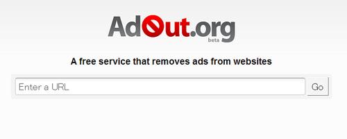 WEBページの広告を取り除く「AdOut.org」