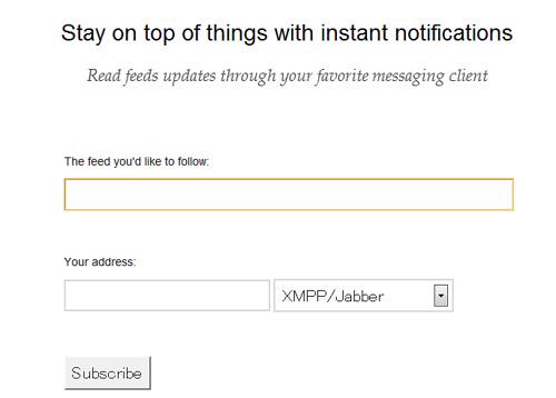 RSSフィードが更新されるとIMに通知する「RSS.im」