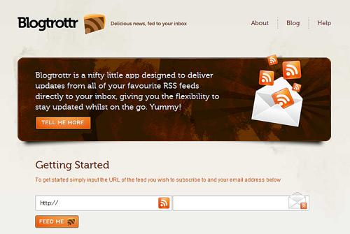 RSSの内容がメールで届く「Blogtrottr」