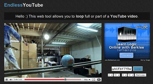 YouTubeのお好みの箇所を繰り返し再生する「EndlessYouTube」