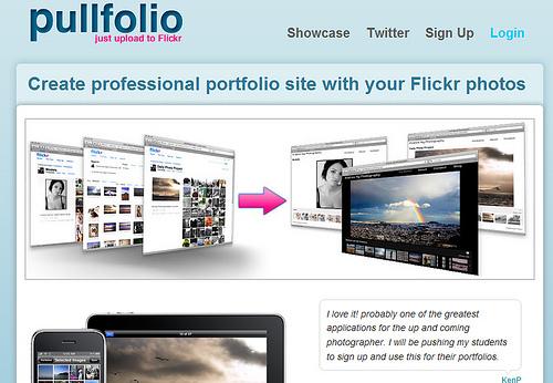 Flickrの写真をスライドショーにする「Pullfolio」