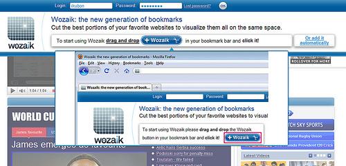 スクリーンショットでブックマーク「Wozaik」