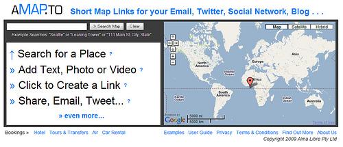 マップに付加情報を付け加えてシェアできる「aMAP.to」