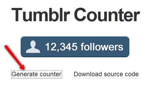 Tumblrのカウンターがリリース