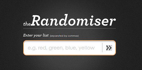 迷ったときは「Randomiser」