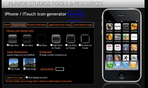 アップロードだけでiPhoneのアイコンを作成する「iPhone Icon, Favicon, .ico Generator」