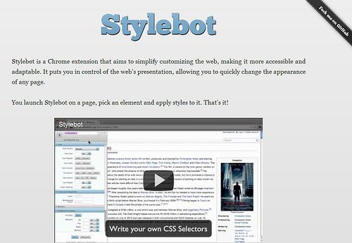 サイトの表示をカスタマイズできるChrome拡張「Stylebot」