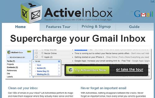 Gmailの受信箱でのタスク管理を強力にしてくれるアドオン「ActiveInbox」