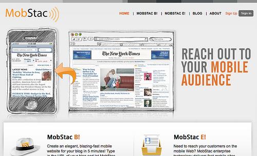 ブログからモバイルサイトを作成するMobStac
