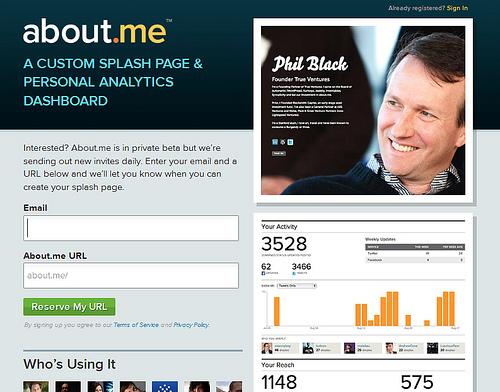 クールなポータルサイトを作成する「about.me」