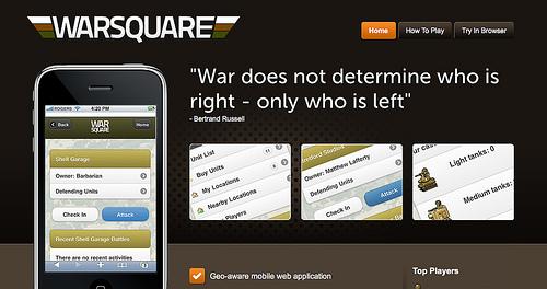 Foursquareと連動した陣取りゲーム「Warsquare」