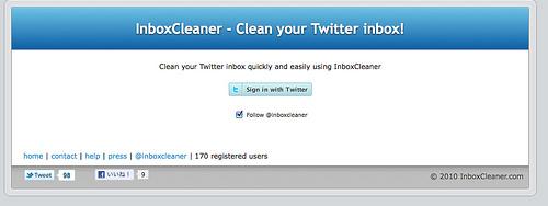 Twitterのダイレクトメッセージをまとめて削除できる「InboxCleaner」