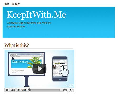 今みているページをiPhoneに転送する「KeepItWith.Me」