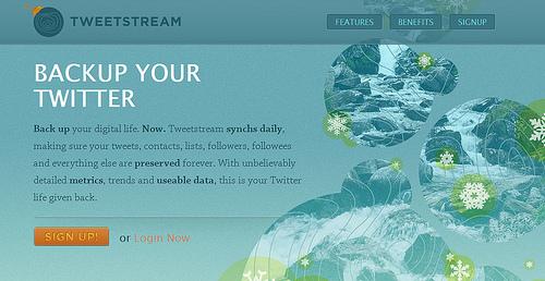 無料で三つのアカウントまでTwitterのバックアップができる「Tweetstream」