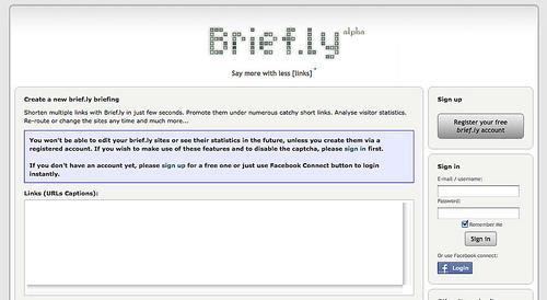 複数のリンクを一つにまとめて短縮URLにしてくれる「Brief.ly」
