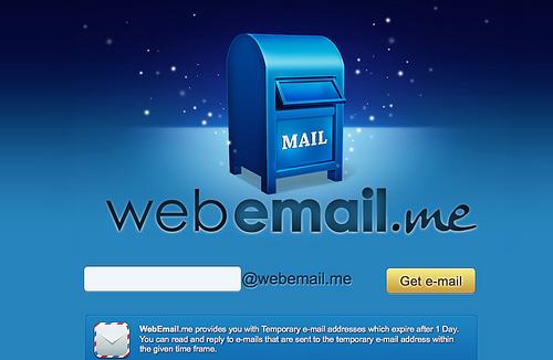 RSSフィード付きの使い捨てメールアドレス「WebEmail.me」