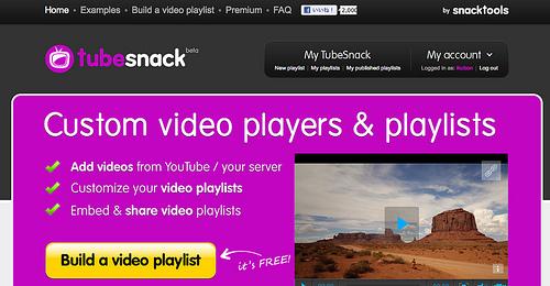 YouTubeのプレイリストが作成できる「TubeSnack」