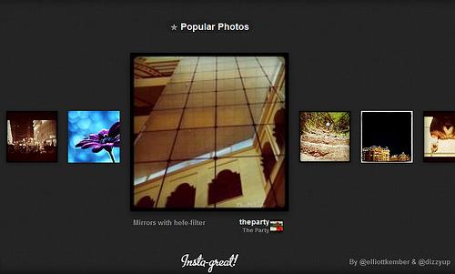 Instagramで人気の写真が一覧できる「Insta-great!」