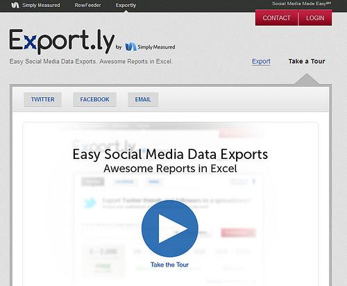ソーシャルサービスのデータをエクセルに書き出す「Export.ly」