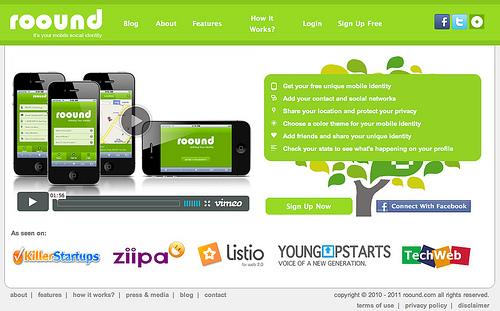 モバイル版のプロフィールサイトが作成できる「Roound.com」