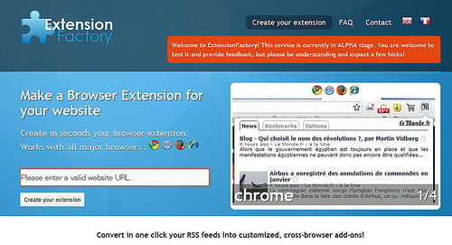 自サイトのアドオンが作成できる「Extension Factory」