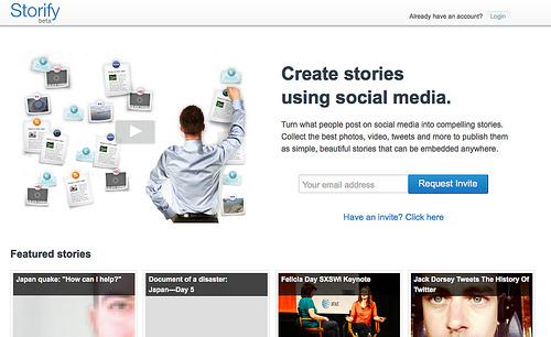 ソーシャルサービスからクリッピングしてストーリーが作成できる「Storify」