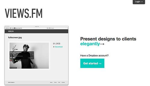 Dropboxのフォルダーやファイルを共有することができる「Views.fm」