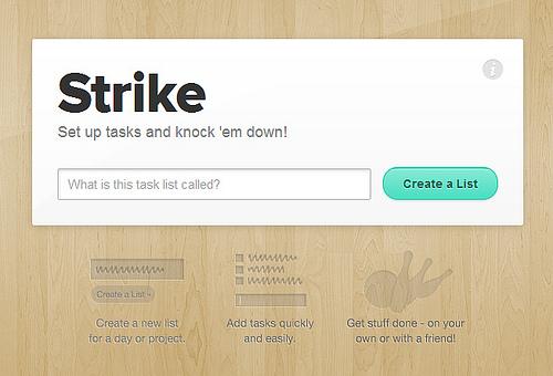 さっくりとタスクリストが作成できる「Strike」
