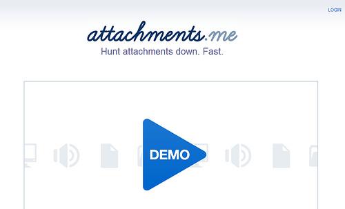 添付ファイルの検索ができるAttachments.me
