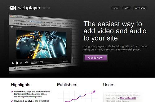 ちょっとカッコよく動画、音楽をブログなどに設置できる「Yahoo! WebPlayer」