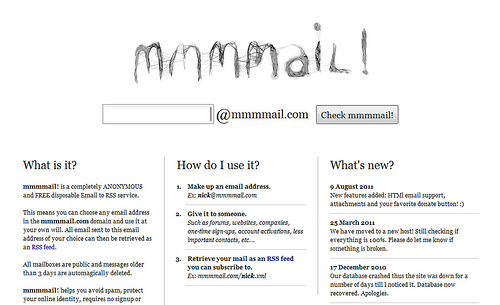 メールをRSSフィードに変換する「mmmmail!」