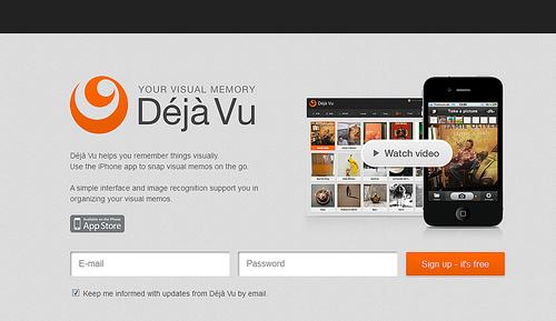 Evernoteとも連携する写真メモサービス「Déjà Vu」