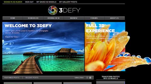 WEBで3D画像が作成できる「3DEFY」