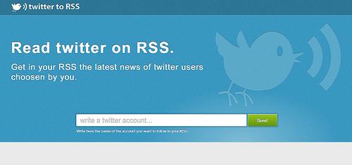 TwitterのつぶやきをRSSで配信してくれる「Twitter to RSS」