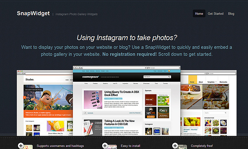 Instagramのブログパーツがかんたんに作成できる「SnapWidget」