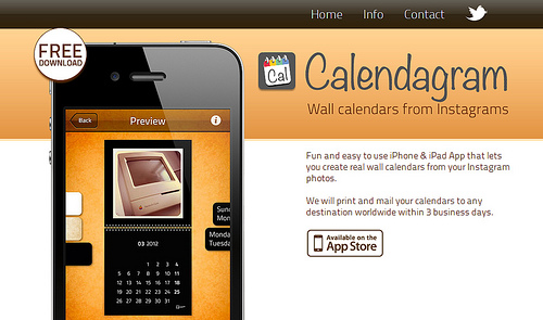 iPhoneからInstagramのカレンダーが注文できる「Calendagram」