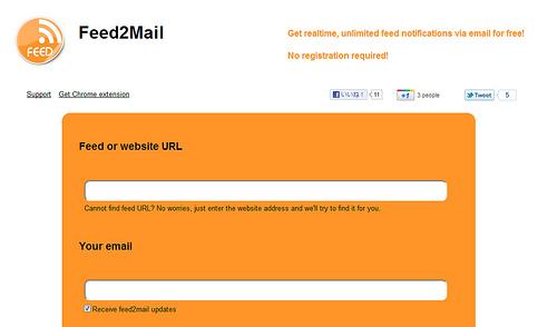 RSSフィードが更新されるとメールで配信する「Feed2mail」
