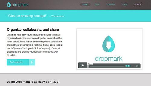 なんでもドラッグ&ドロップでブックマークできる「Dropmark」