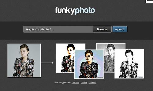 なかなか渋いエフェクトが掛けられる「Funkyphoto.net」