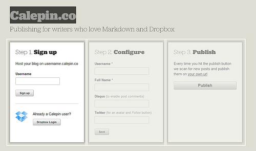 Dropboxのスペースを利用してブログが公開できる「Calepin」