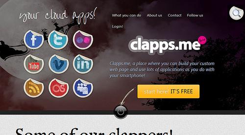 きれいなポータルサイトが作られる「Clapps.me」