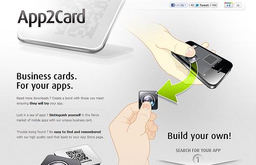 iPhoneアプリの名刺が作成できる「App2Card」
