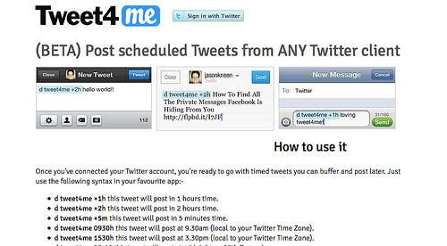 どこからでも時間指定でツイートが投稿できる「Tweet4me」