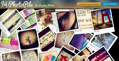 Instagramの写真をかっこよく並べてくれる「PhotoPile」