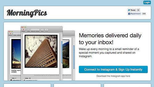 毎朝、Instagramの写真が届けられる「MorningPics」