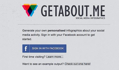 Facebookの利用状況をインフォグラフィックにしてくれる「GetAbout.me」